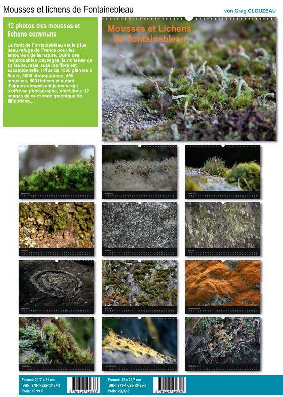 Calendrier des mousses et lichens de BLEAU