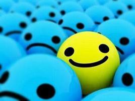 sonrie aunque estes triste!:)