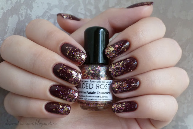 Femme fatale cosmetics Gilded rose & OPI Mrs. O'Leary's BBQ
