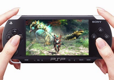 Fighting the Zinogre on a PSP