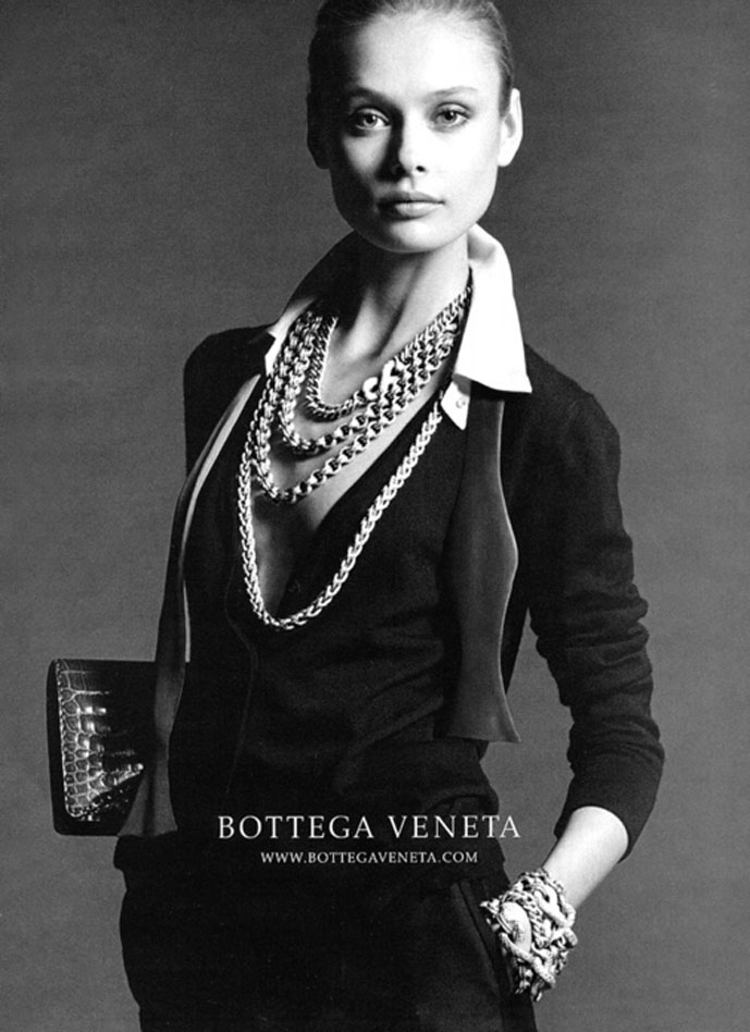 Inguna Butane photographed by Lord Snowdown for Bottega Veneta Fall/Winter 2006 campaign