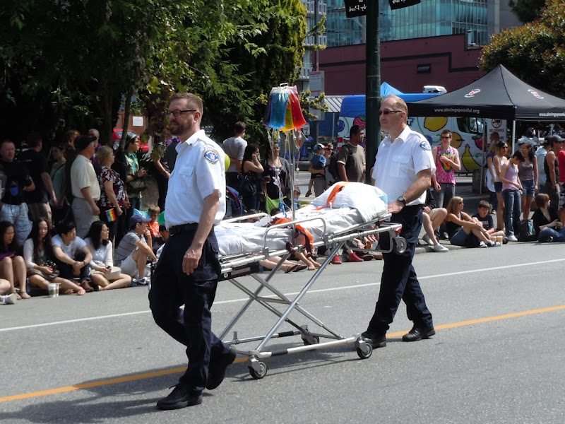 33rd Vancouver Pride Parade ambulance crew