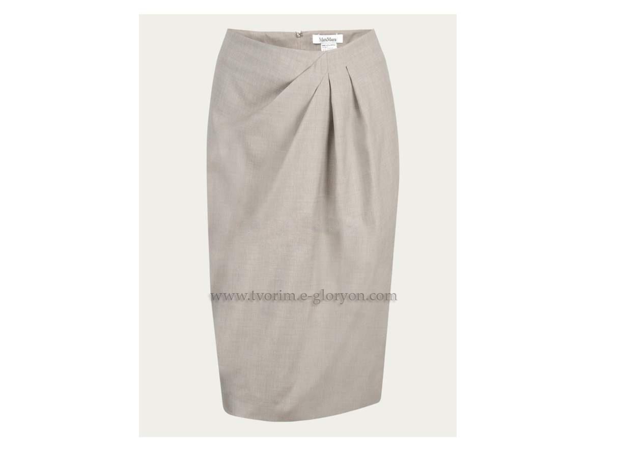 COSTUR@NDO: Falda con Drapeado Asimètrico