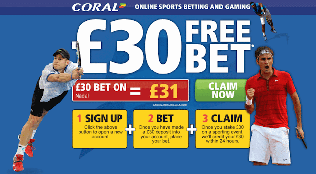 Coral Free £30 Bet