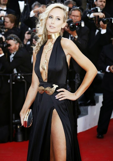 Socialite, Model @ Lady Victoria Hervey on Red Carpet at 2015 Cannes Film Festival