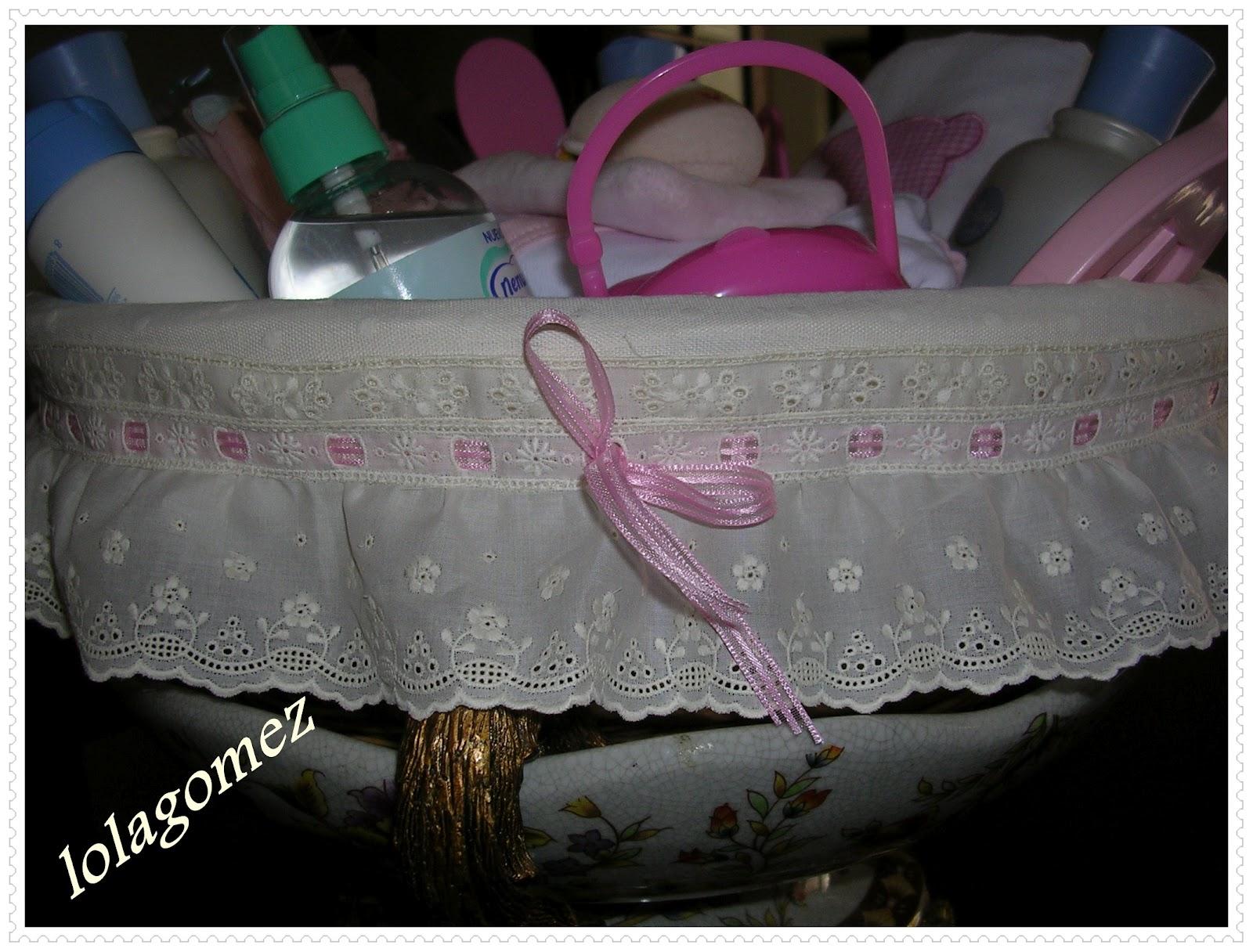 Con aguja e hilo y algo mas una cesta para una beb muy - Como forrar una cesta de mimbre ...