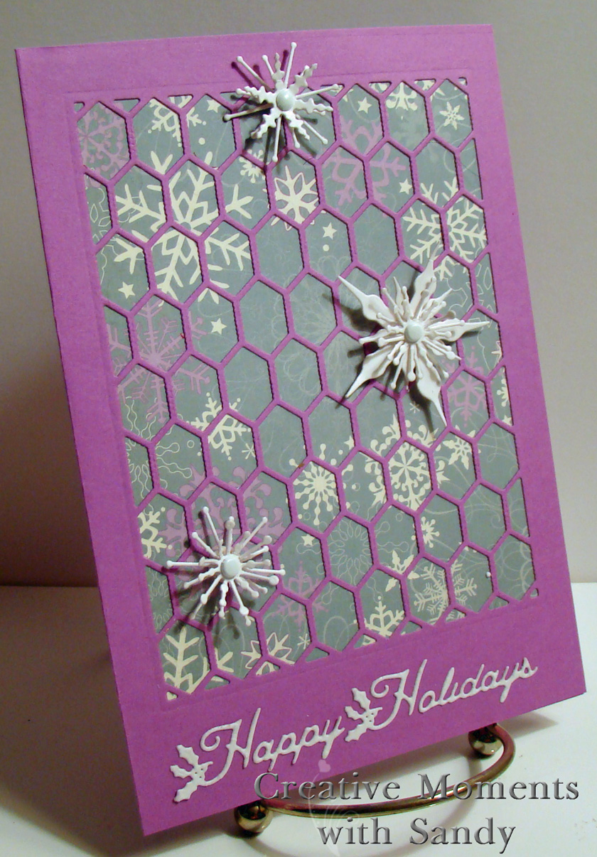 Creative Moments With Sandy: Chicken Wire Holiday Card