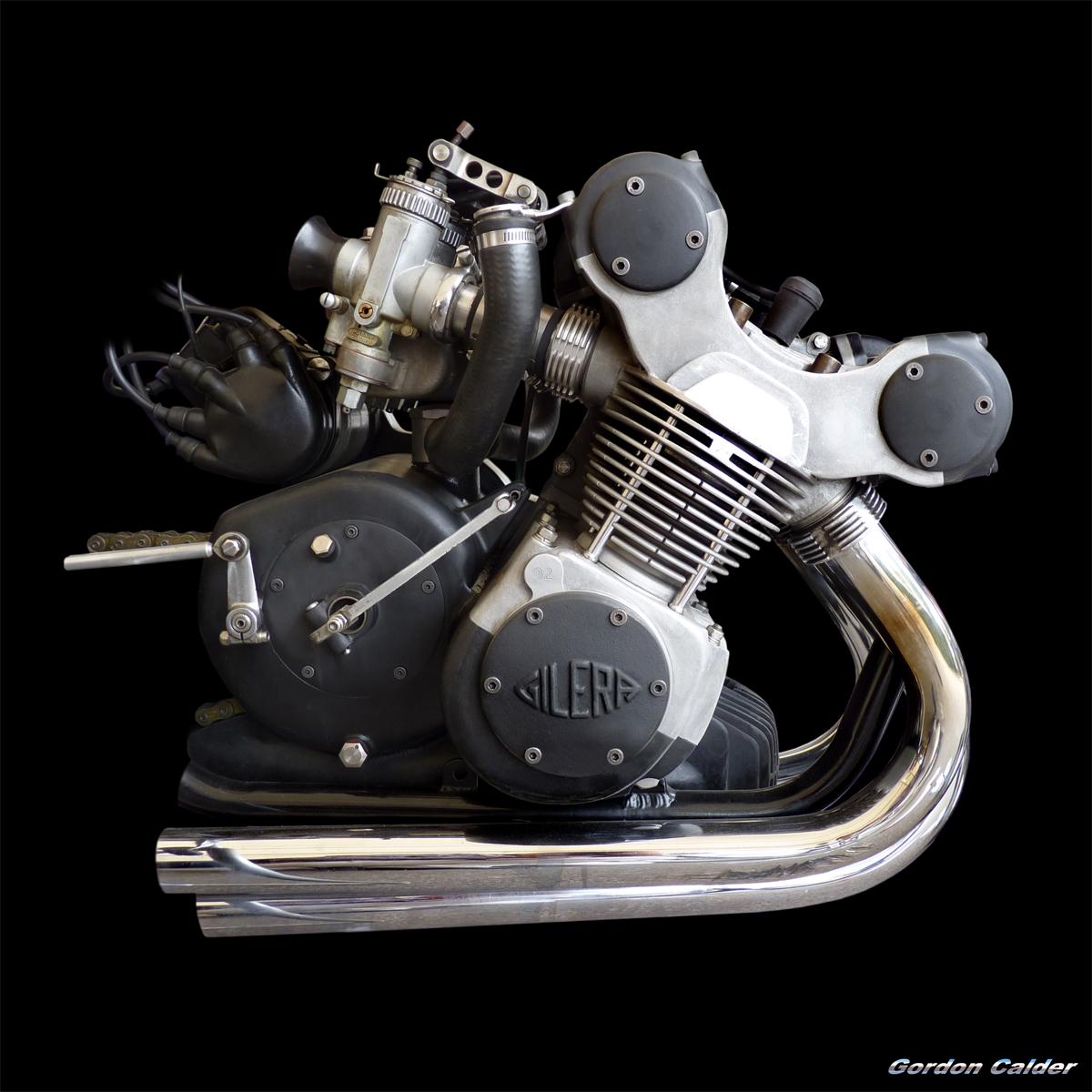 1957 gilera 500cc grand prix race bike engine   photo by gordon calder