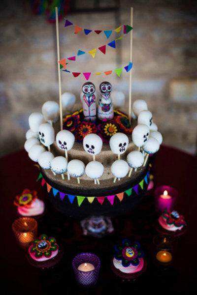 Dia De Los Muertos cake topper
