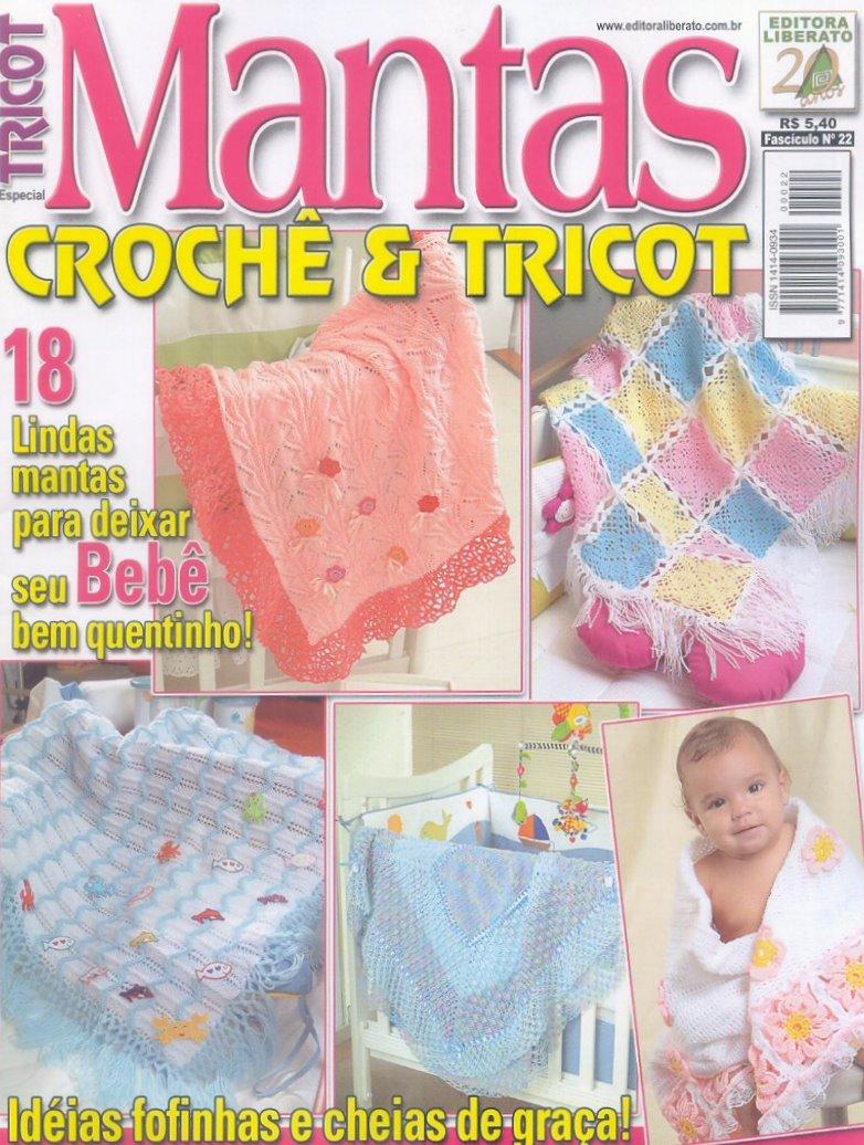 18 MANTAS PARA BEBE TRICOT CROCHET PATRONES GRATIS ~ TODO PATRONES ...