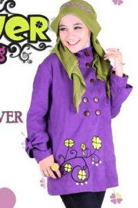 Clover Clothing Jacket - Purple (Toko Jilbab dan Busana Muslimah Terbaru)