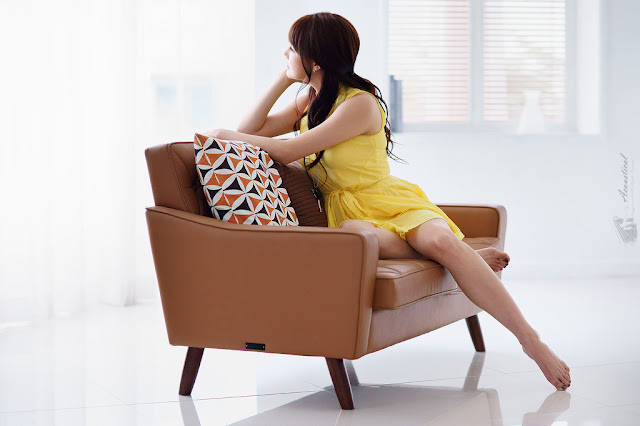 4 Han Ga Eun in Yellow- very cute asian girl - girlcute4u.blogspot.com