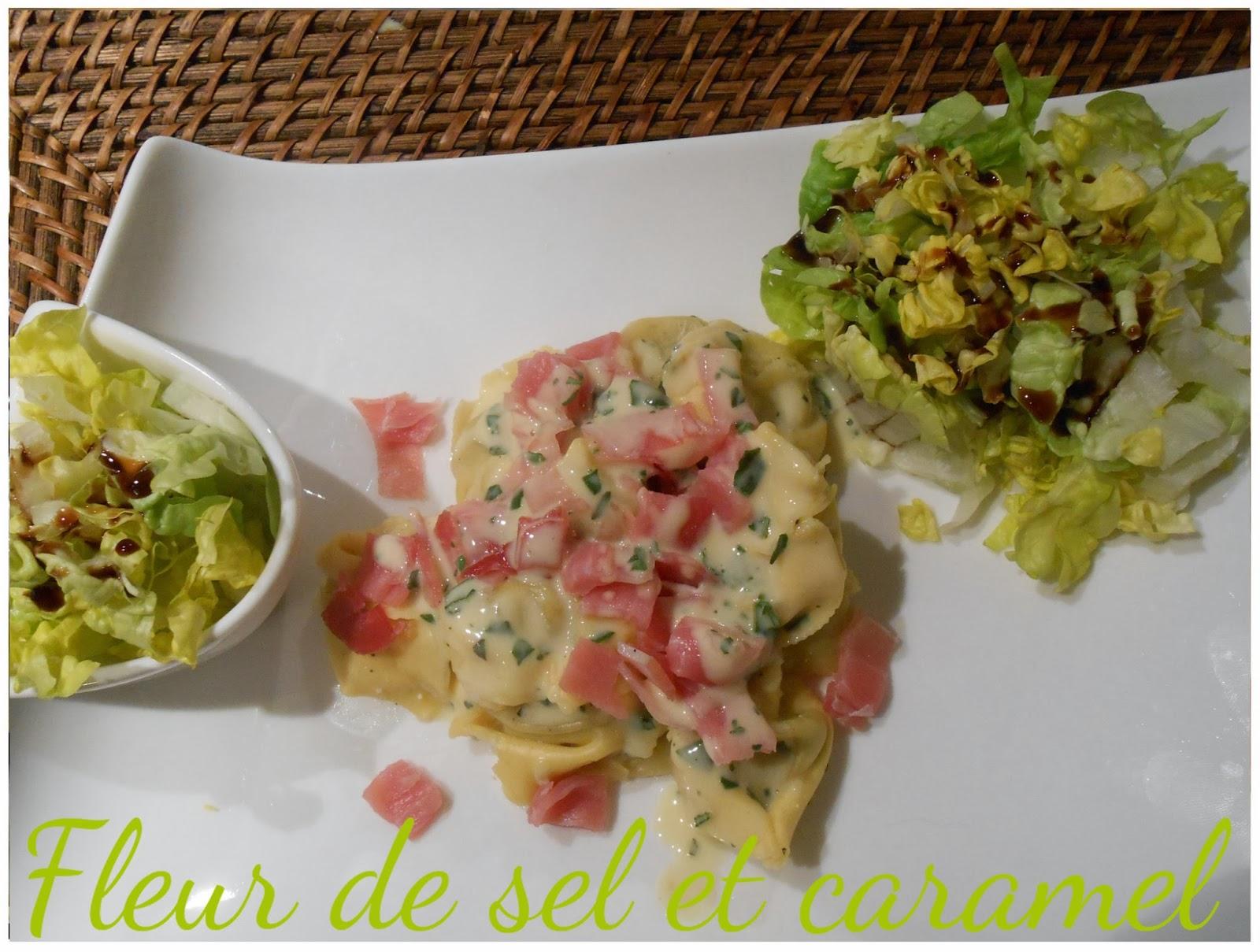 Tortellini frais au pesto, basilic et pignons