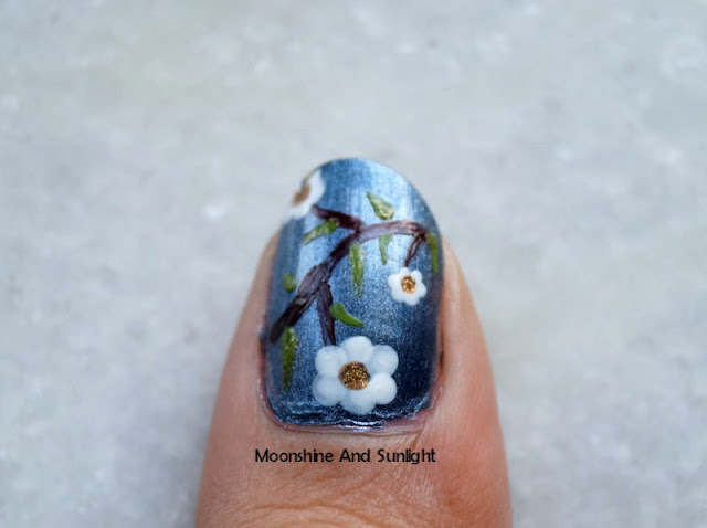 Easy Dotted floral nail art