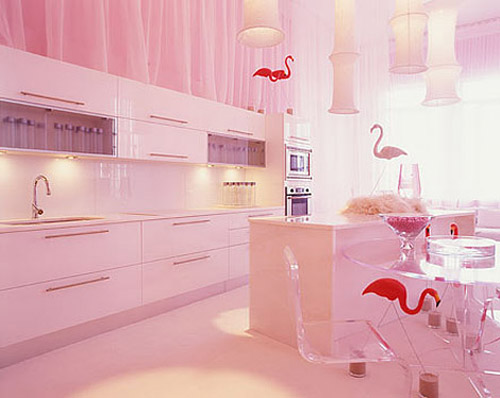 Make Your Life Colorful Pink Kitchen Cute
