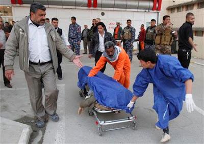 Pengebom, berani, mati, membunuh, 22, di, masjid, Syiah, Iraq, Baghdad, Syiah Iraq Islam