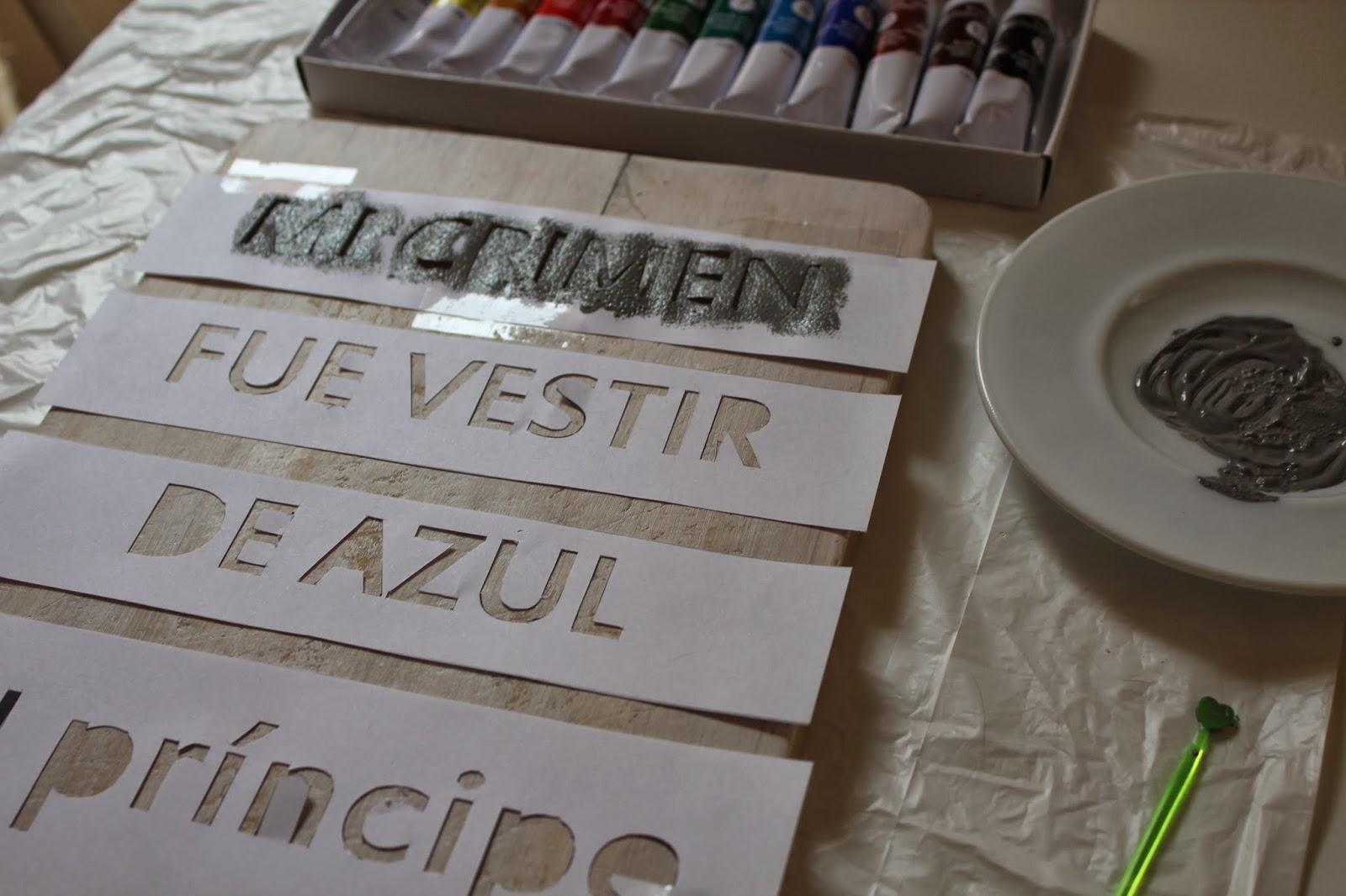 frase en madera, imprimación de frase en madera
