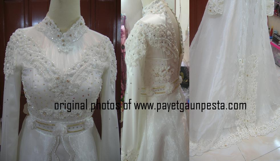 Baju Pengantin Muslim Semi Dress Payet Gaun Pesta Sketsa Model