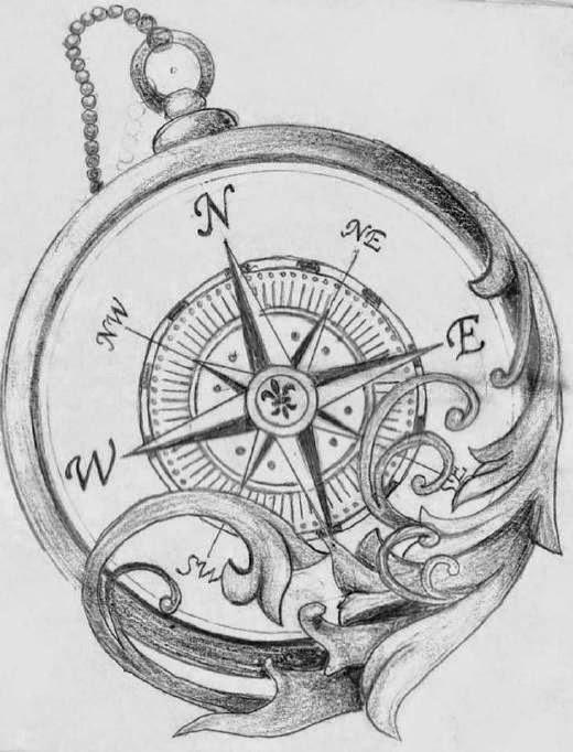 Compass Tattoo Line Drawing : Tatuajes de brújulas belagoria la web los