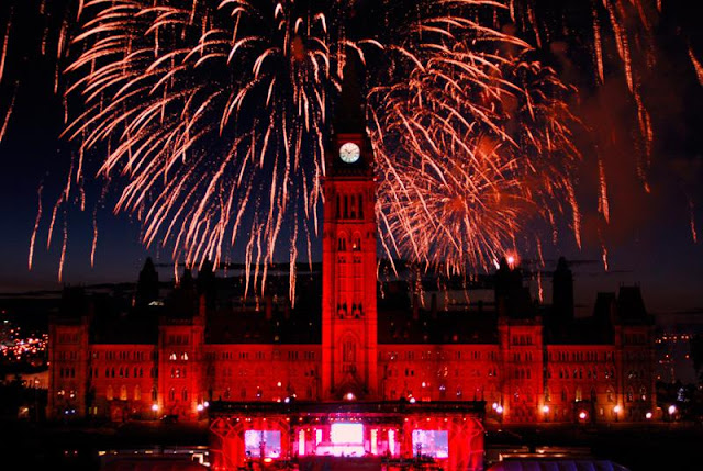 Canada Day, summer, holiday, weekend, fireworks