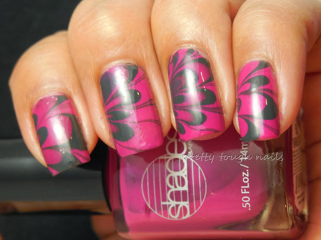 #31DC2013 Watermarble Nails With Barielle Daring Dahlia And Misa Trust Fund