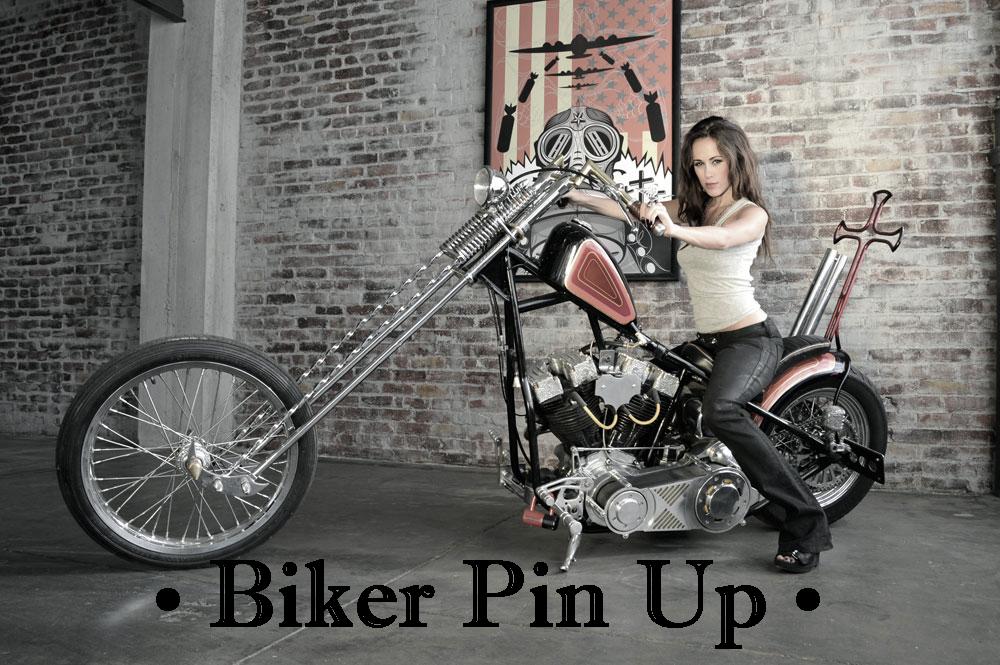 Biker Pin Up