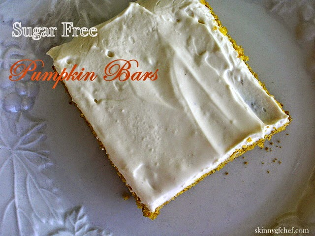 Healthy Holiday Pumpkin Bars, gluten free, sugar free, xanthan free
