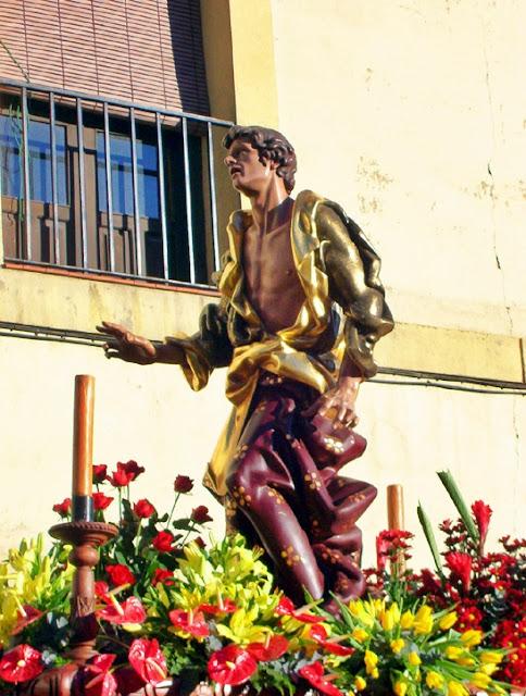 Paso de San Juan. Cofradía de Nuestra Señora de las Angustias y Soledad. León. Foto G. Márquez.