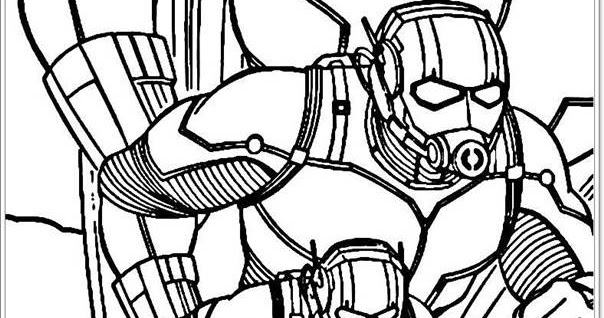 Avengers Ant Man Coloring Pages Realistic Coloring Pages