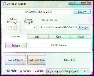 EA Cricket 07 Jukebox Maker