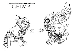 lego chima coloring pages Cragger vs eris
