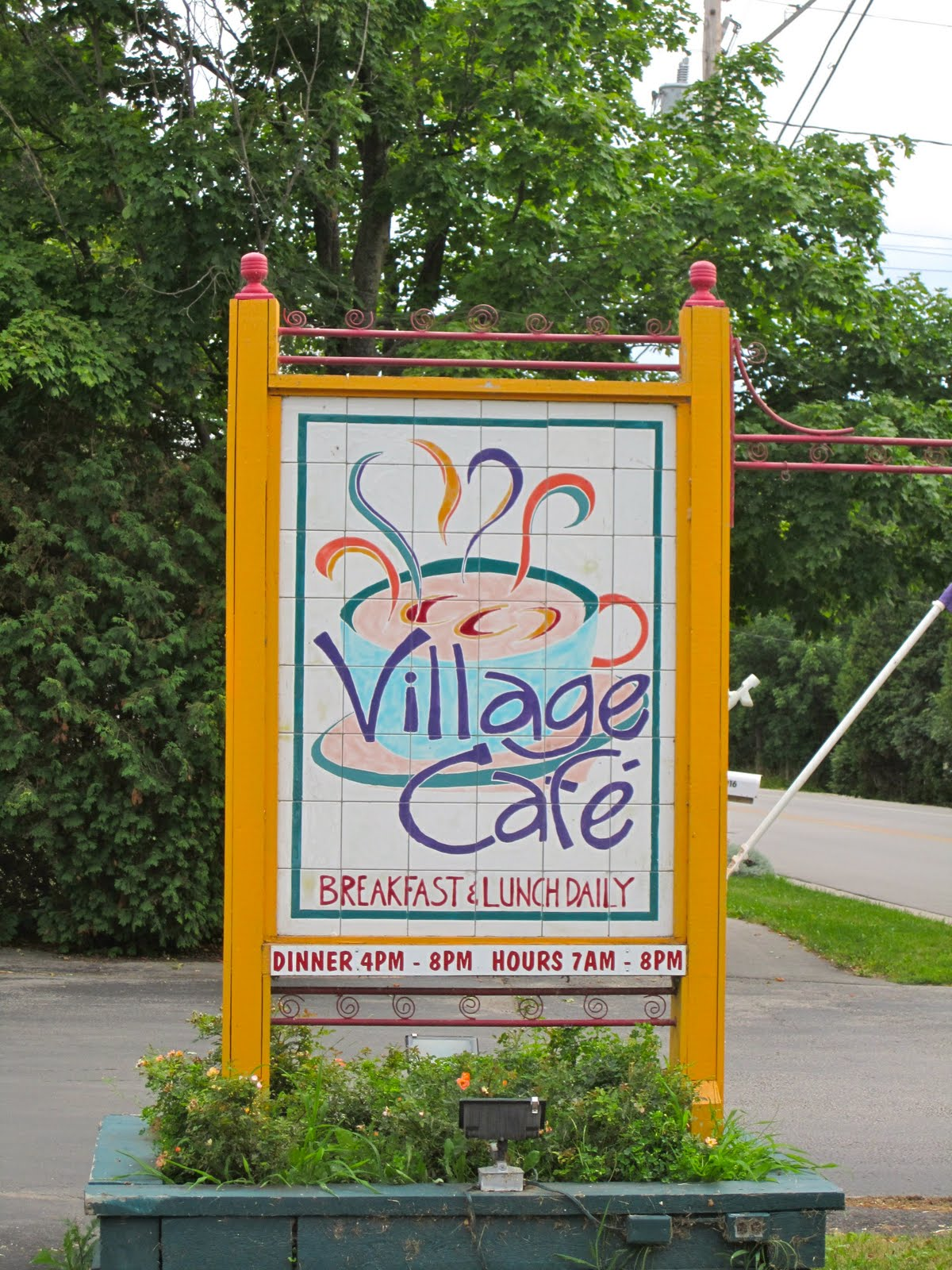 Visits And Verse Door County S Village Cafe Lipsky S Bar