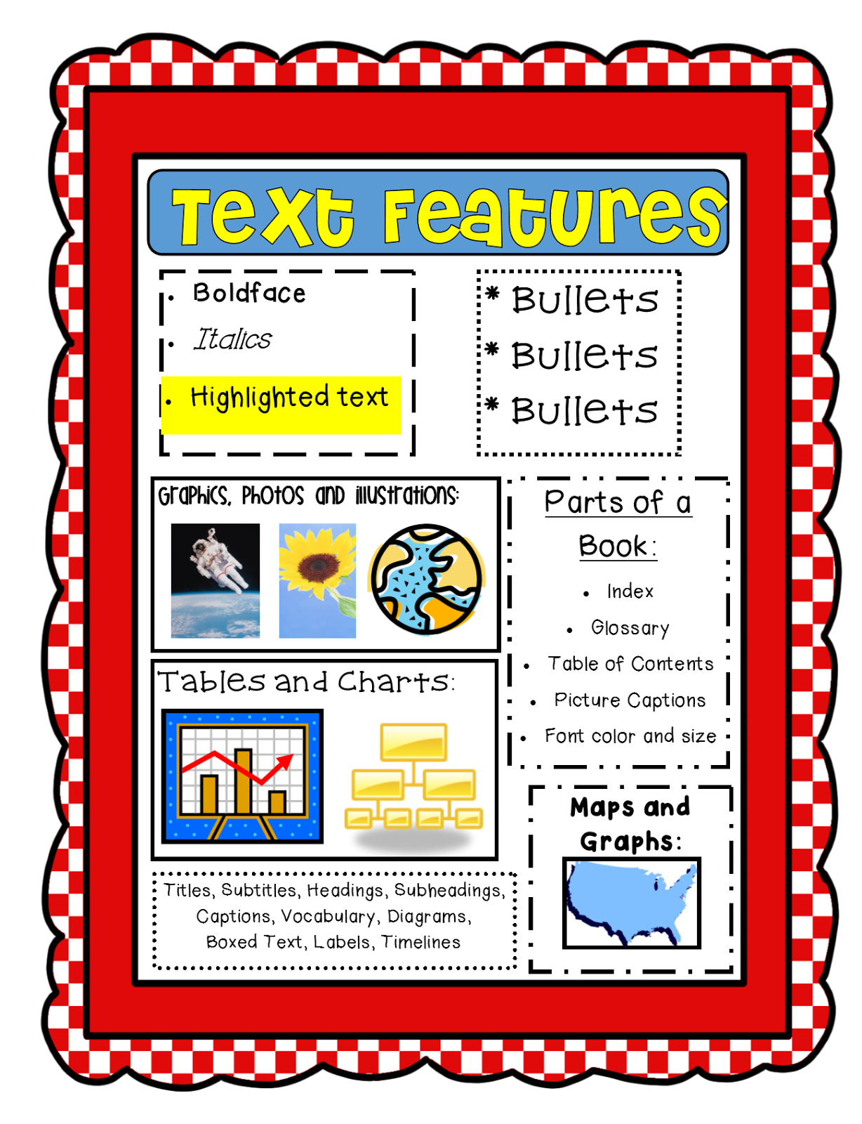 http://www.teacherspayteachers.com/Product/Text-Features-Freebie-CCSS-729802