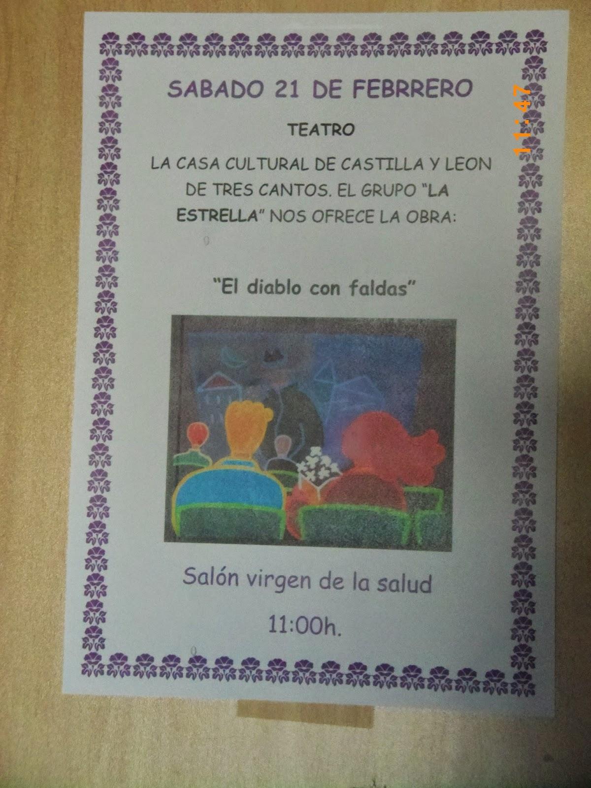 Casa de castilla y le n en tres cantos madrid grupo teatral la estrella en san camilo - Vppb tres cantos ...