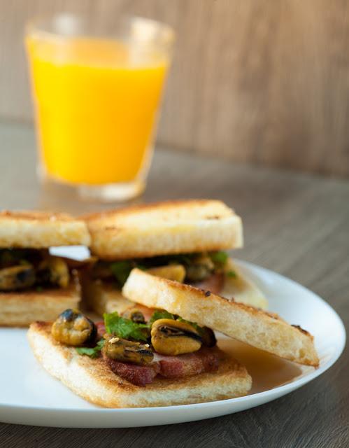 сендвичи с мидиями