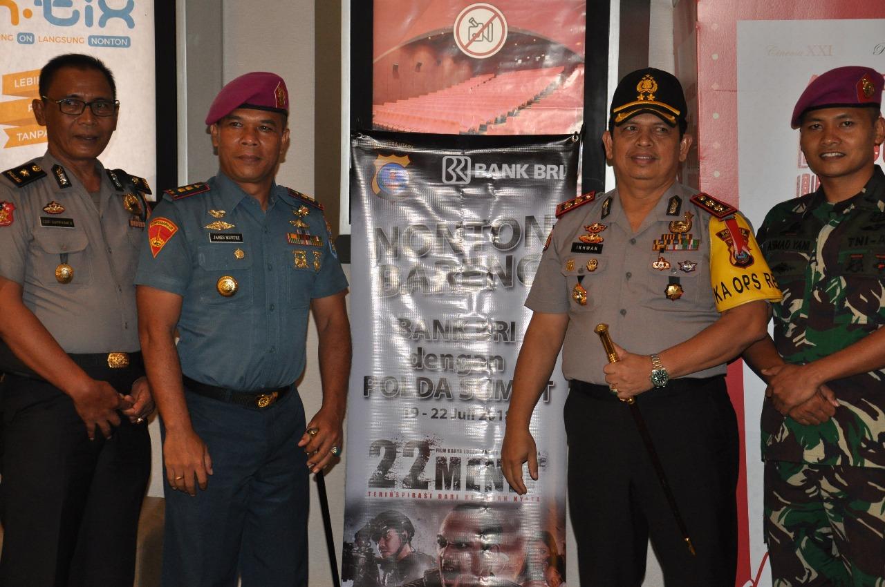 Nonton Bareng Film 22 Menit Polres Pelabuhan Belawan Bersama Dan Yon Marinir