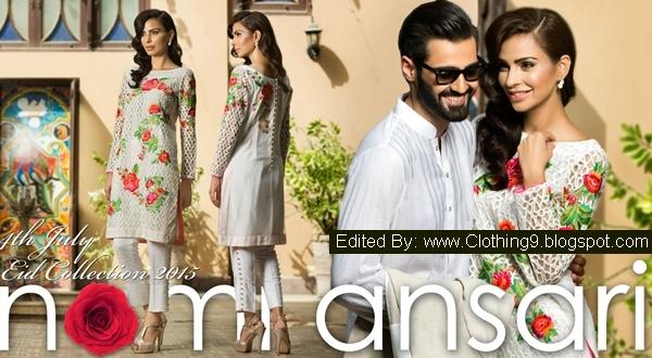 Nomi Ansari Lawn Luxury RTW for Eid Ul Fitr 2015 Dress-up