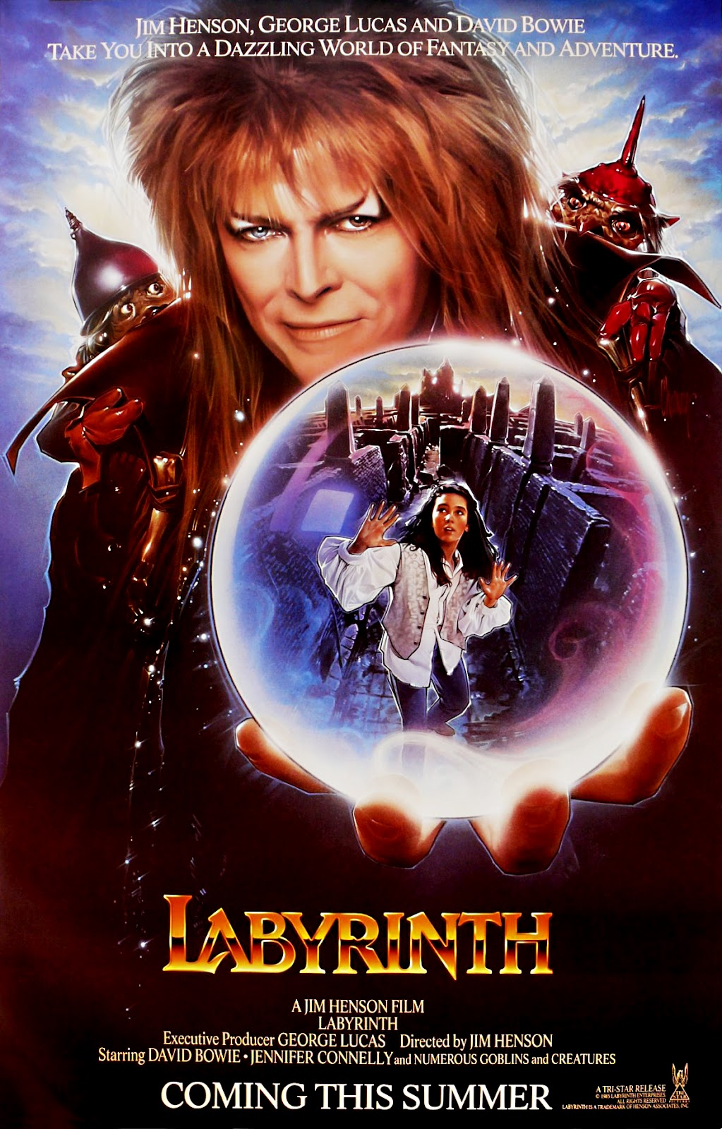 The Geeky Nerfherder: Movie Poster Art: Labyrinth (1986) Labyrinth 1986