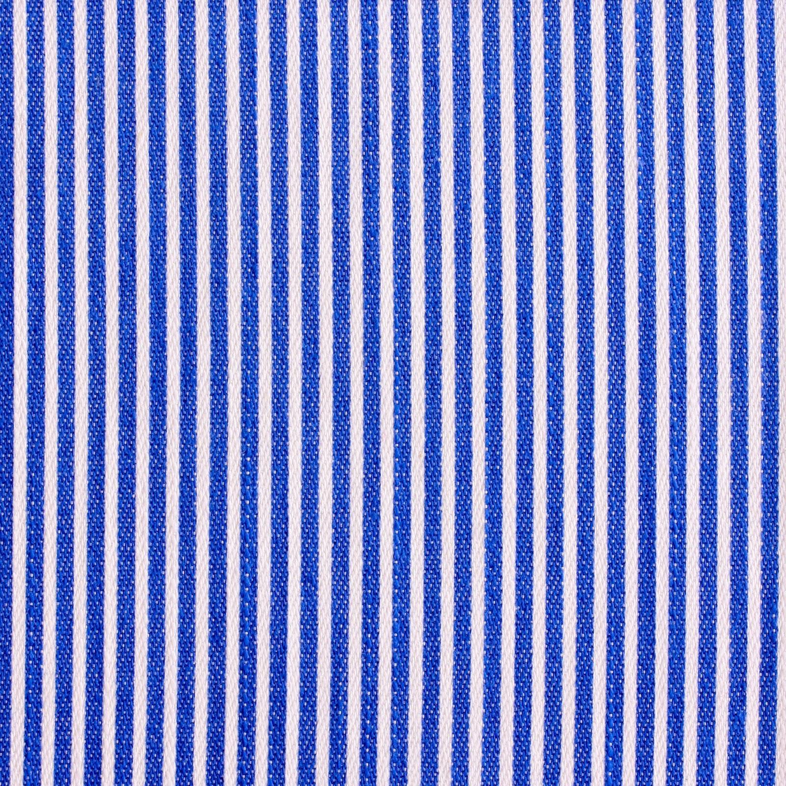 Mælkedrenge stribet stof i blå og hvid