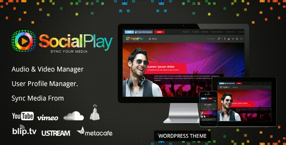 download SocialPlay v1.2.8 - Themeforest Media Sharing Wordpress Theme
