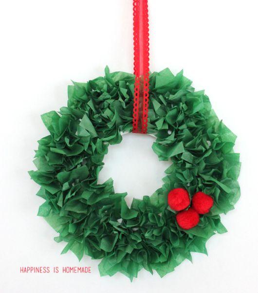 Haz una guirnalda de navidad con papel de china o seda - Decoracion navidad papel ...