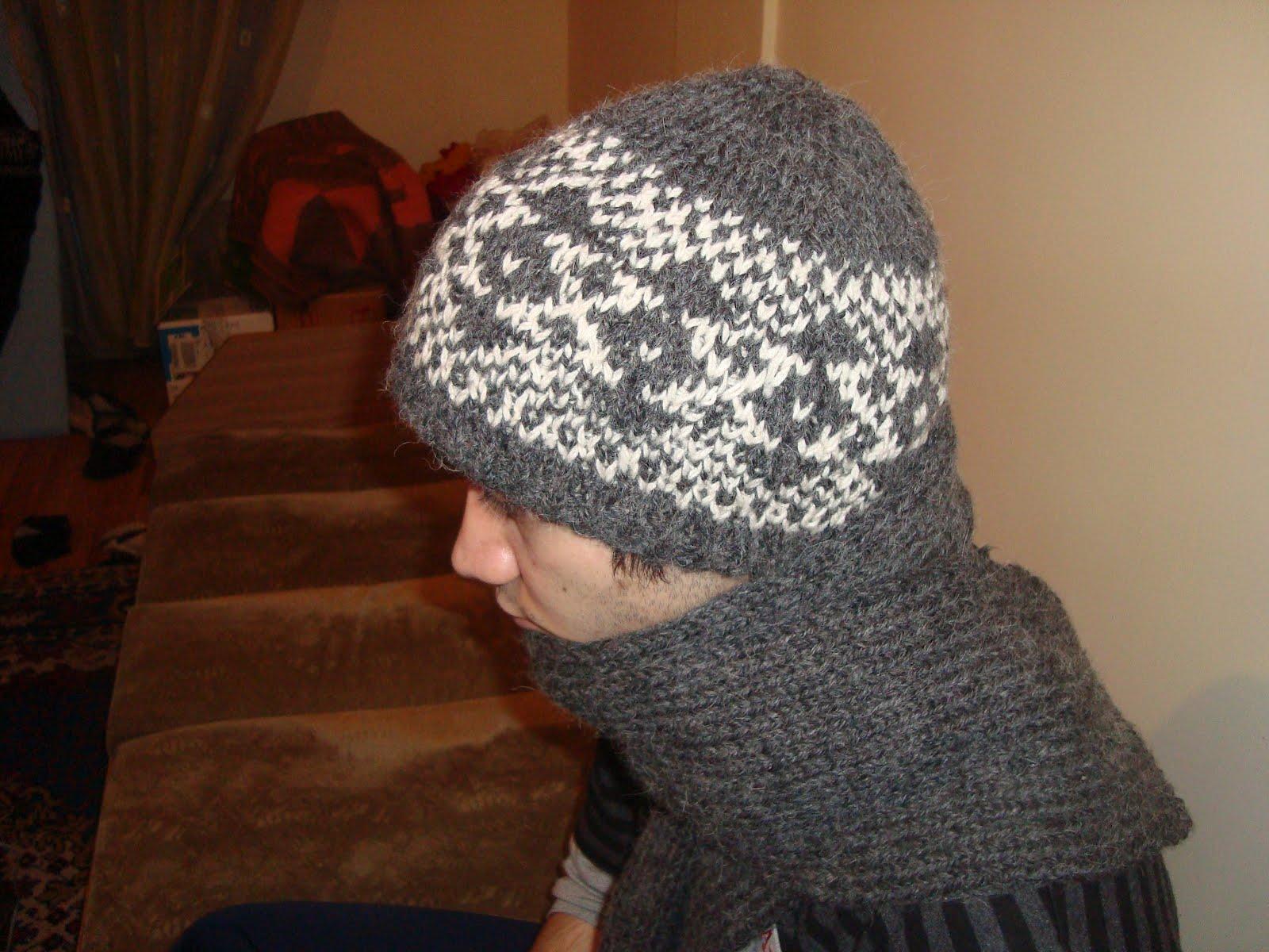 Воплощение мужской шапки Зигзаг Удачи от Людмилы Шульга 79