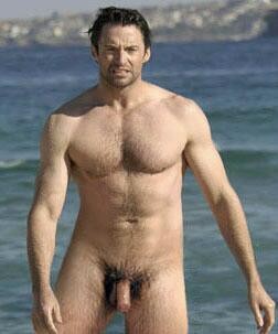 Hugh Jackman's big cock
