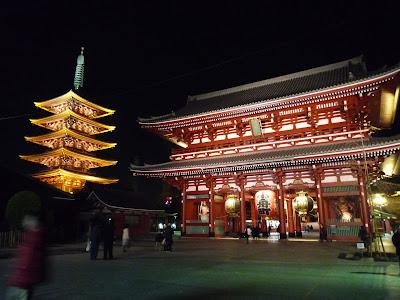 Malam hari di Sensou-ji Tokyo