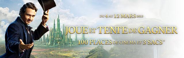 100 places + 3 sacs le Monde fantastique d'Oz