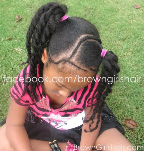 brown girls hair october 2012