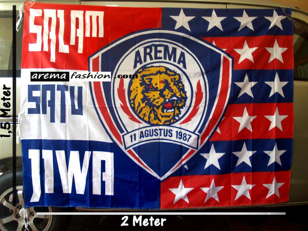 Baju Arema Fashion Bendera Logo Tengah Gambar Lambang Terkeren