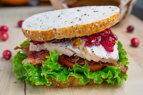 Turkey Sandwich with Cranberry Sauce
