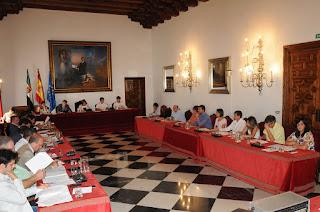 Salón de Plenos. Diputación de Cáceres.