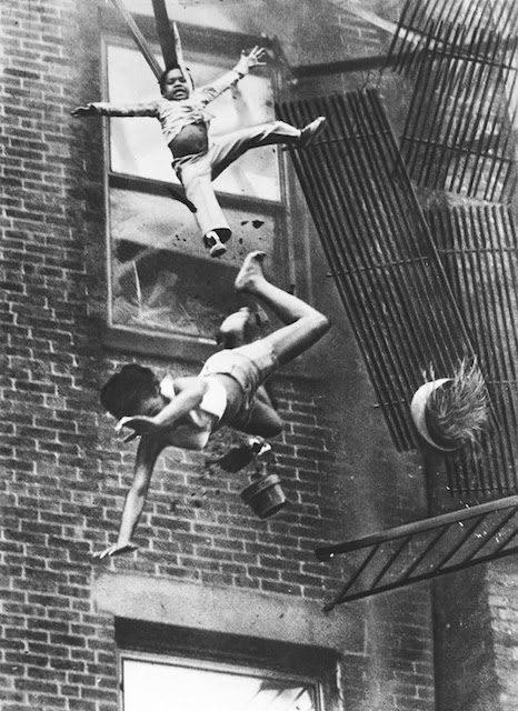 Fire escape collapse,  1975